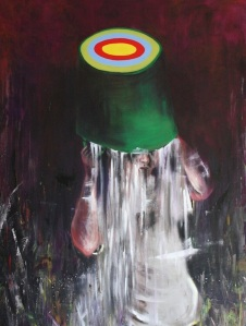 """"""" Bullseye """" , 130x170cm, oil on canvas, 2014"""