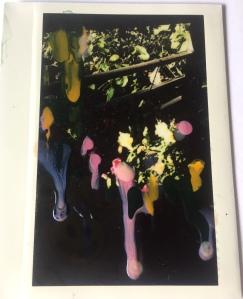 Melting , 11 x 8 cm ,nailpolish on polaroaid, 2019 ,private collection