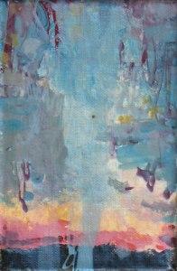 Nailpolish 11 , 12 X18 cm , nailpolish on canvas, 2020