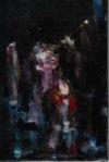 """float "" ,15 X10 cm , nailpolish on canvasplate,2020"
