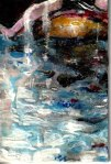 swimmingpool , 15 X10 cm ,nailpolish on canvasplate,2020