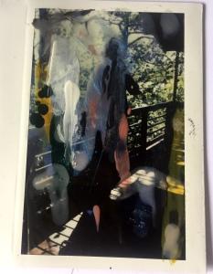 Polaroid 10 , 11 X 8 cm , nailpolish on polaroid ,2019 , Private collection